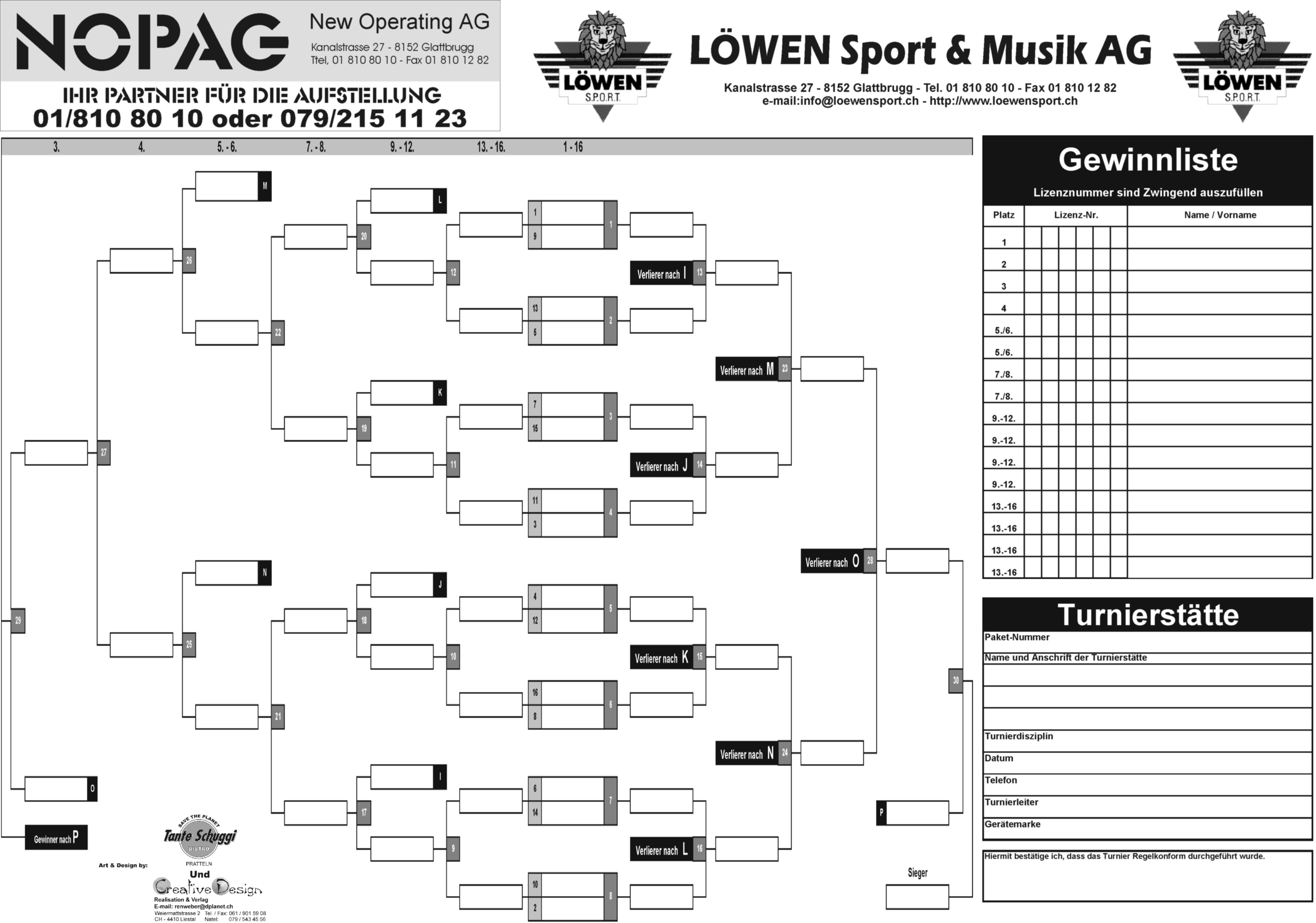 Online Turnierplan